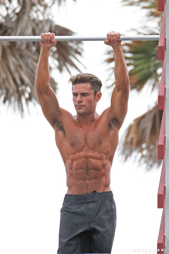 Zac Efron Shirtless Baywatch Movie Set Pictures | POPSUGAR Celebrity  -Follow Hourglassify for More!
