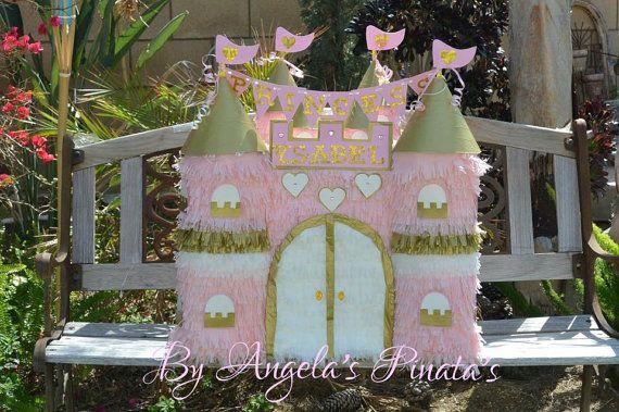 Princesa Castillo personalizado piñata rosa y por angelaspinatas