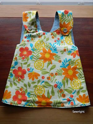 Sewright: Reversible Pinafore Shirt for a Toddler