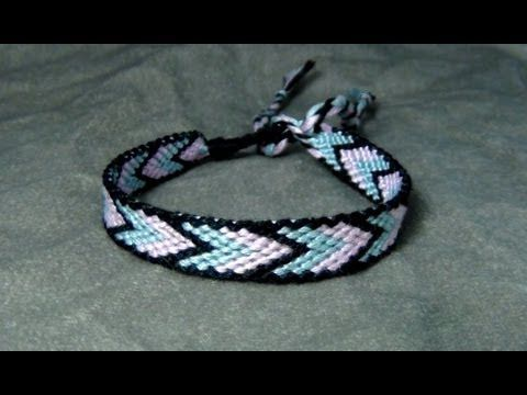 ► Friendship Bracelet Tutorial 12 - Beginner - Bordered Chevron (BONUS: alternate patterns)