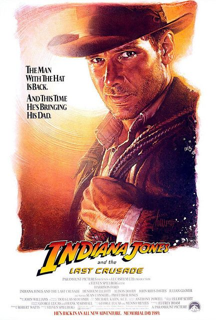 Indiana Jones and the Last Crusade advance movie poster