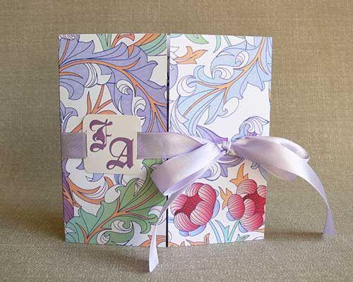 floral wedding invitation with monogram, in elegant box - Invitatii de Nunta - Cassia