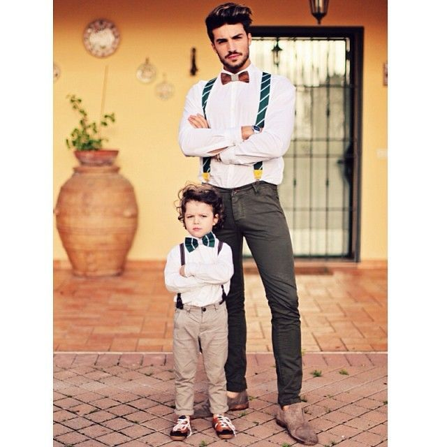 Father and son. Bowties are cool