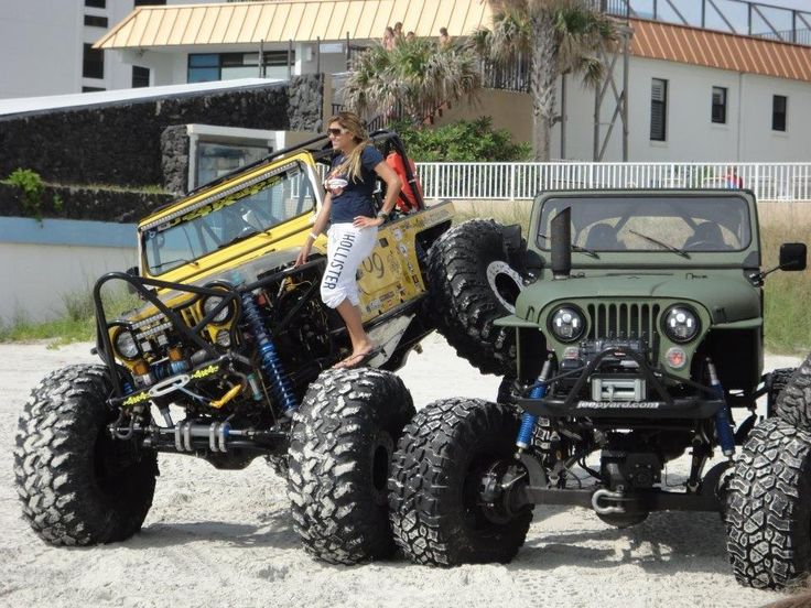 Jeepeto S 69 Rig In Yellow With Front Rear Steer And Jeff Jeep Yard Off Road