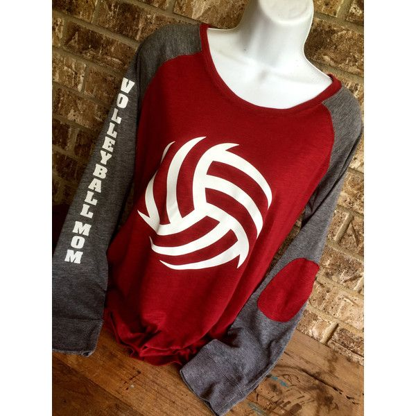 Volleyball Laces T-Shirt Volleyball Mom Shirt Long Sleeve Preppy Tee ($39) ❤ liked on Polyvore featuring tops, t-shirts, white, women's clothing, white checkered shirt, cotton polyester t shirts, long sleeve tees, long sleeve shirts and white long sleeve t shirt