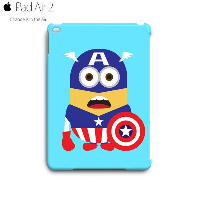 Despicable Me Minion Captain America iPad Air 2 Case Cover Wrap Around