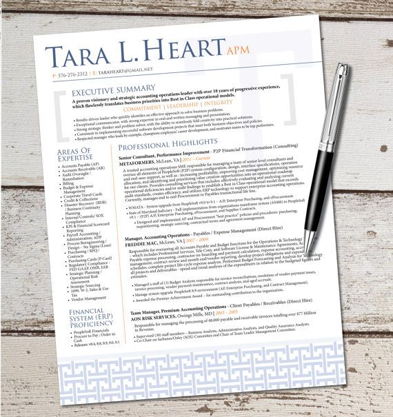 The Tara Resume Template Design - Graphic Design - Marketing - Sales - Customer Service - Medical - Teacher