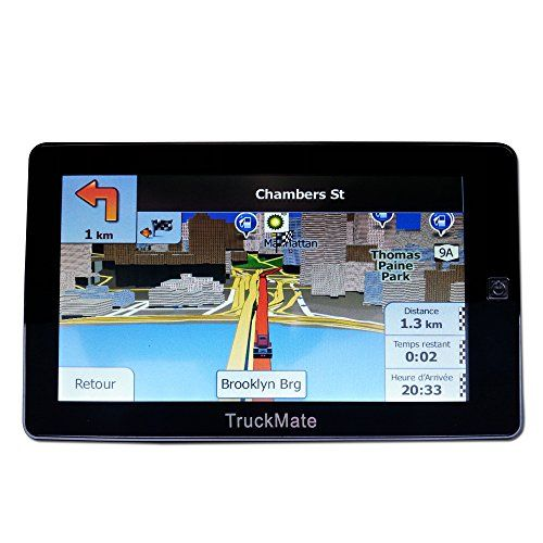 TruckMate GPS for Truck Navigation 7″ inch with Free LifeTime North America maps 2016-2017(Canada + USA) Christmas Special Price Limited…