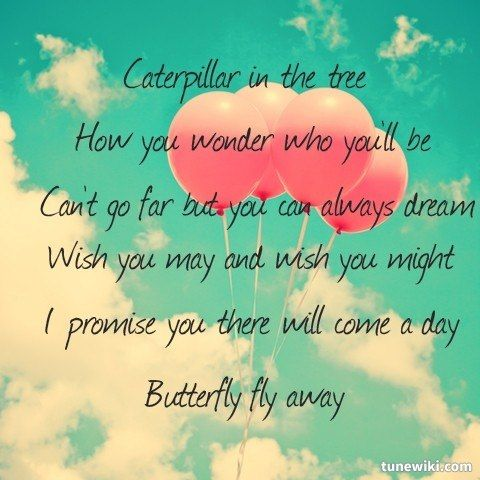 "-- #LyricArt for ""Butterfly Fly Away"" by Miley Cyrus"