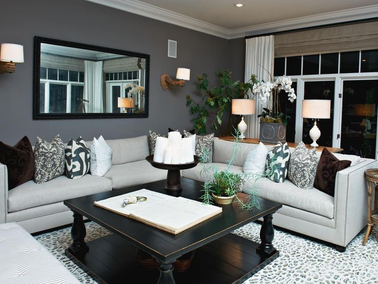Gray Living Room With Bold Accents Hgtv Pertaining To Rooms Renovation