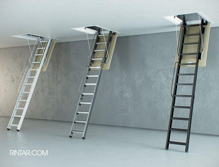 Escaleras plegables de altillo en madera rintar alina - Escaleras metalicas plegables ...