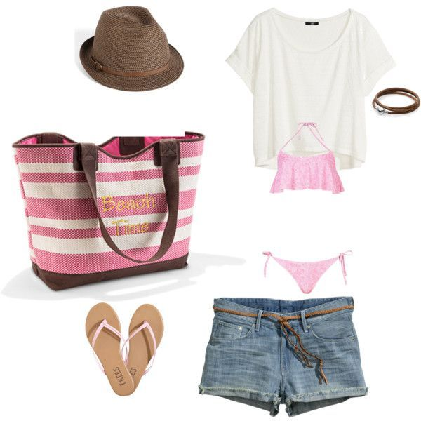 Great beach or pool day outfit!  Thirty-One Euro Straw Tote in Coral  #ThirtyOne #ThirtyOneGifts