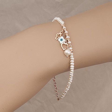 Handmade Bracelet with Pearls At Anthoshop.com