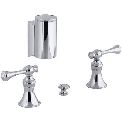 Kohler Revival Below-The-Rim Horizontal Swivel Spray Bidet Faucet with Traditional Lever Handles Finish: