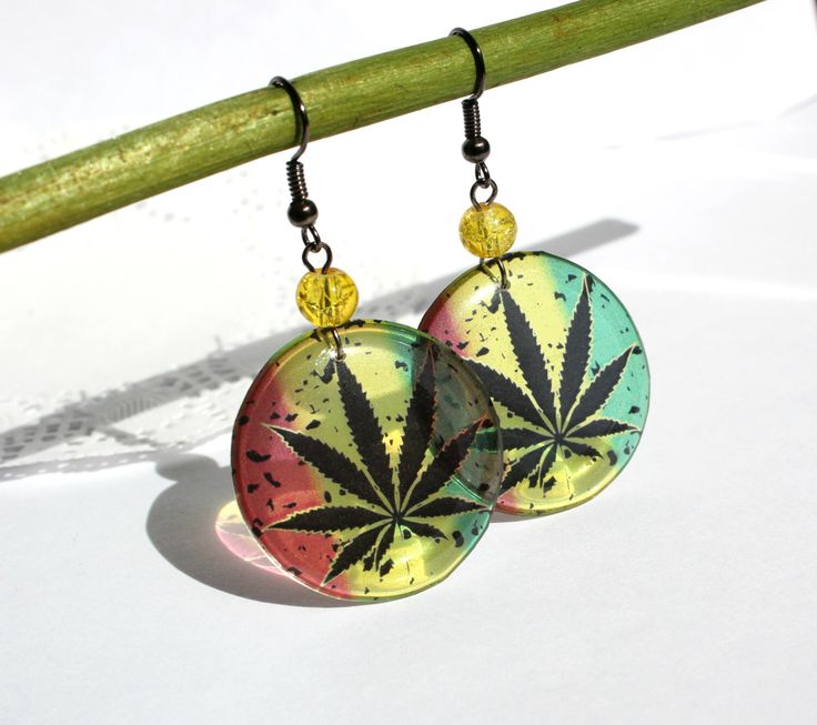A personal favourite from my Etsy shop https://www.etsy.com/listing/227786741/cannabis-jewelry-transparent-earrings