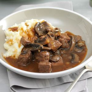 Pulled this out of the depths of old favorites. Still amazing!!  Beef & Mushroom Braised Stew Recipe   Tonight's dinner...    OMG, WOW!   did not use any alcohol (wine or brandy) and just used beef broth.  sub cornstarch for flour to thicken and added about 3TBSP of balsamic vinegar at the finish.  YUMMMY!