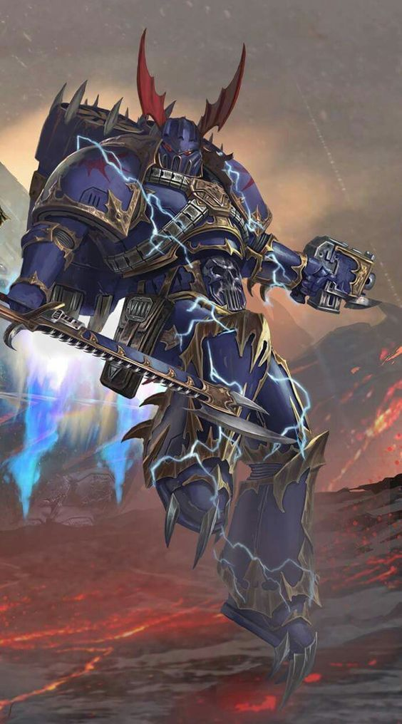 Like all of the Space Marines in the Traitor Legions, these troops were slowly and insidiously corrupted by the Chaos Gods so that, step by step, they were turned into something all together the opposite of what they had once been. Where there had once been proud, noble Space Marine warriors, there now stood the vain, selfish creatures that quickly became known by both themselves and their enemies simply as Raptors.
