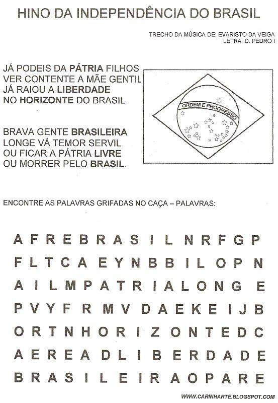 50 Atividades sobre a Independência do Brasil ou Semana da pátria! Atividades para o dia 7 de Setembro - ESPAÇO EDUCAR