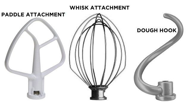 Stand mixers come with lots of attachments, but these three types of beaters are the most important..