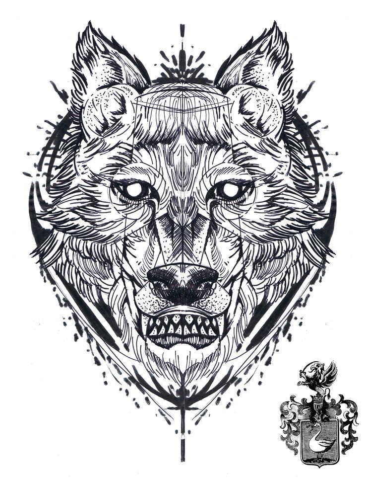 #tattoo #sketch #drawing #wolf #geometric #abstact #blackwork