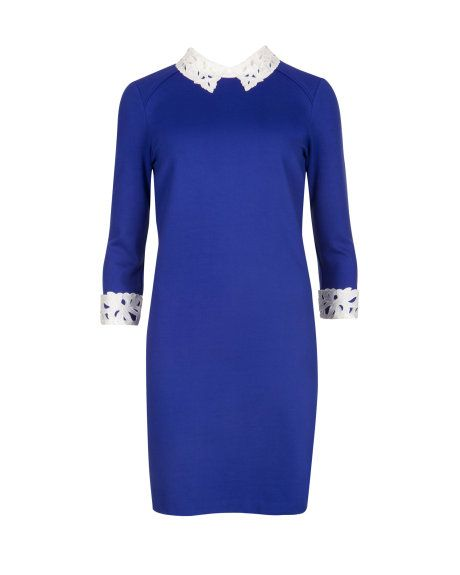 Lace collar tunic - Bright Blue   Dresses   Ted Baker UK