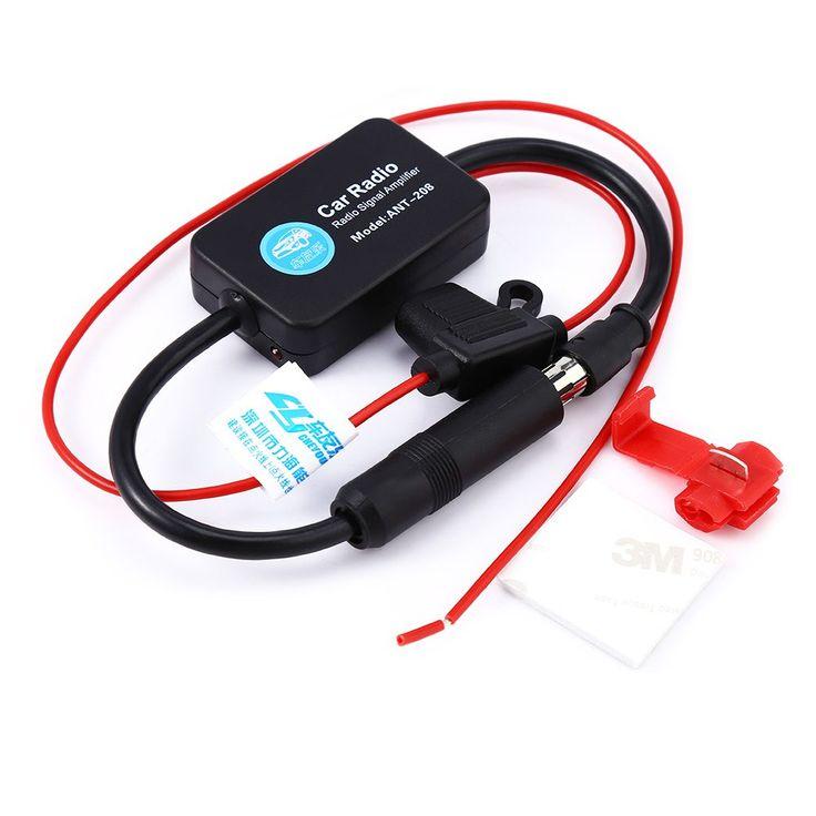ANT-208 Antena Auto Antenas de Radio de Coche Amplificador de Señal Universal Auto FM/AM Antena Antenas Booster soporte de Parabrisas