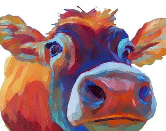 Cow • Giclee Print • Paper/Canvas/Wood Block • Multiple Sizes Available  PAPER PRINTS: • Smaller images printed on 8.5 x 11, 80-lb matte white stock • Images 13 x 19 and smaller printed on 61-lb. white stock • Ready for a variety of mat and framing options(not included) • Open-edition print presented in clear cello sleeve • Shipped in rigid mailer via USPS • MATS AVAILABLE for my 8x8 and 8x10 image-size prints:  https://www.etsy.com/listing/114599821/white-art-mat  CANVAS PRINTS: • Giclee…