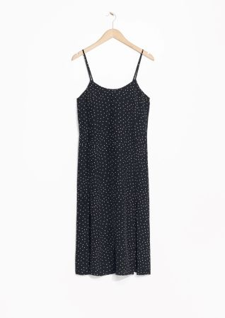 & Other Stories | Dotted Spaghetti Strap Slip Dress