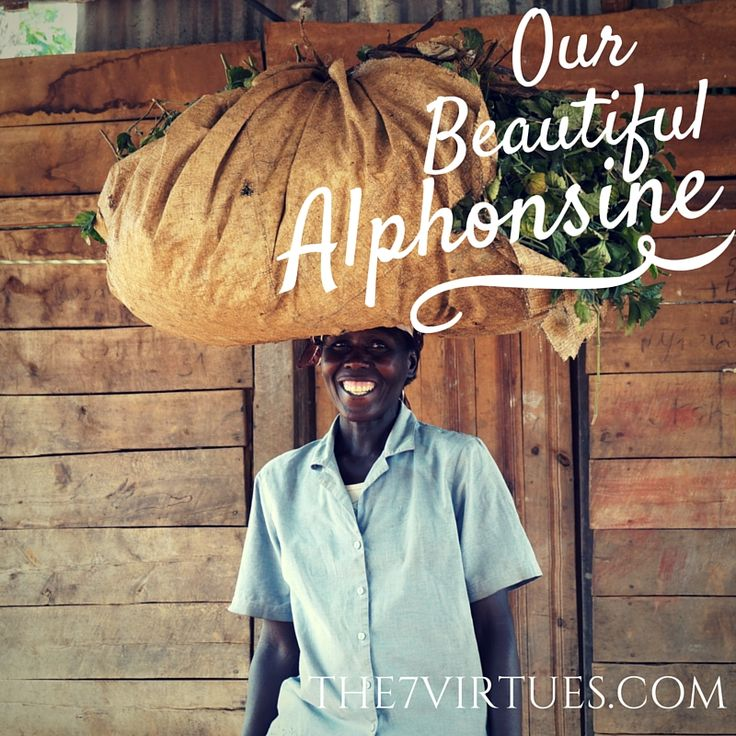 We met Alphonsine in Rwanda at our Patchouli distillery. She has rebuilt her life and home after the Genocide. She is our beautiful role model! www.The7virtues.com