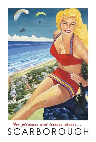 Vintage Scarborough Poster 2 by Eleanor Butler ... prints available from workart.co.za
