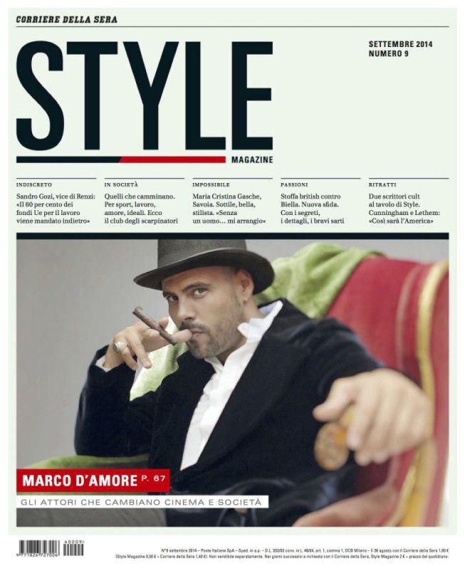 Marco D'Amore in #GiorgioArmani on the cover of Style Italia