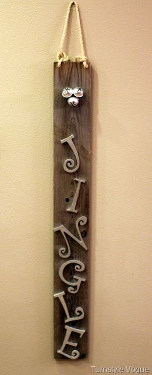 Architectural Salvage Jingle Christmas Sign-Turnstyle Vogue
