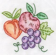Crazy Quilting and Embroidery Blog by Pamela Kellogg of Kitty and Me Designs: Crayon Fruit Completed