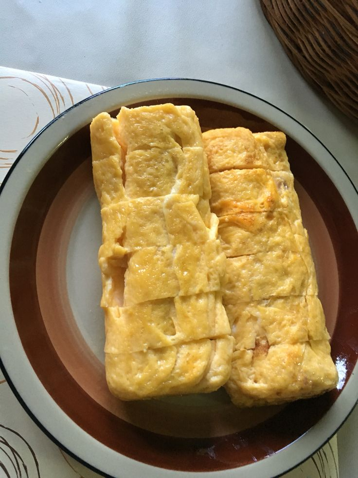 Self made tamago - doesn't look perfect but tastes just right