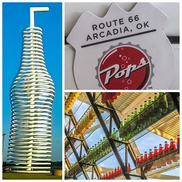 Pop's in Arcadia, Oklahoma is a must see stop on Route 66!
