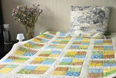 Такое одеялко советую сшить тем, кто хочет попробовать себя в лоскутном шитье. Размер готового одеяла 97 х 157 см. Нарезаем квадратики, у меня 8х8 см без припуска (припуск 6-7 мм). Раскладываем по цвету/рисунку. Обожаю этот этап, уже видно будущее одеялко. Сшиваем квадратики в блоки&hel…