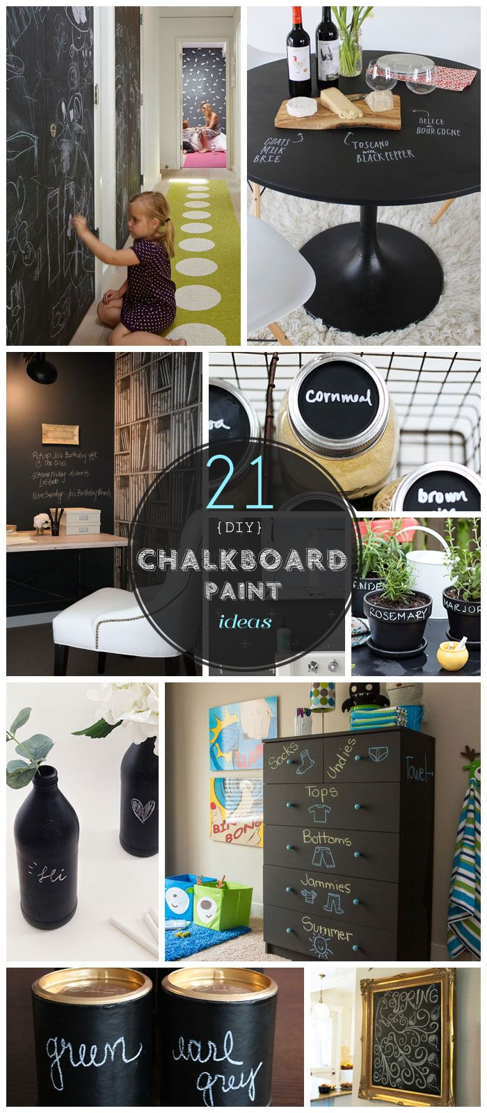 Chalkboard paint can transform anything!!! Click Pic for 21 DIY Chalkboard Paint Ideas | Easy Decorating Ideas for The Home