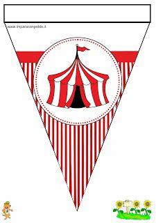 A Scuola con Poldo: Bandierine Benvenuti tema circo