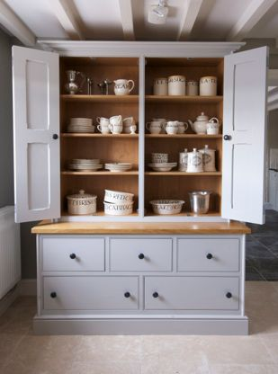 bespoke hand painted housekeepers cupboard