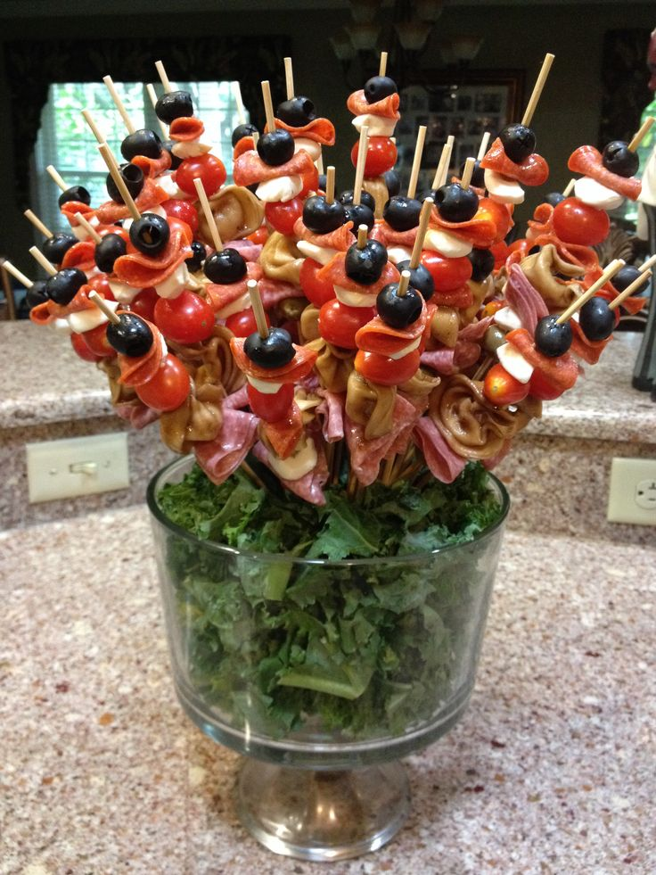 Antipasta Skewers Appetizers Pinterest Skewers