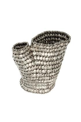 Premium Burnished Silver Glove - StyleSays