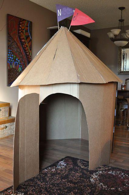 simple cardboard play tower