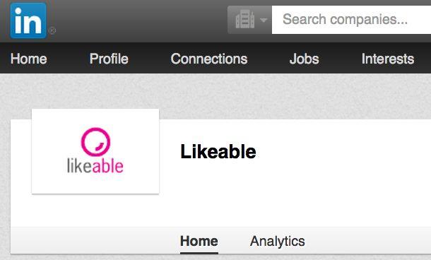 Bedrijfspagina #LikeableDesign op #Linkedin