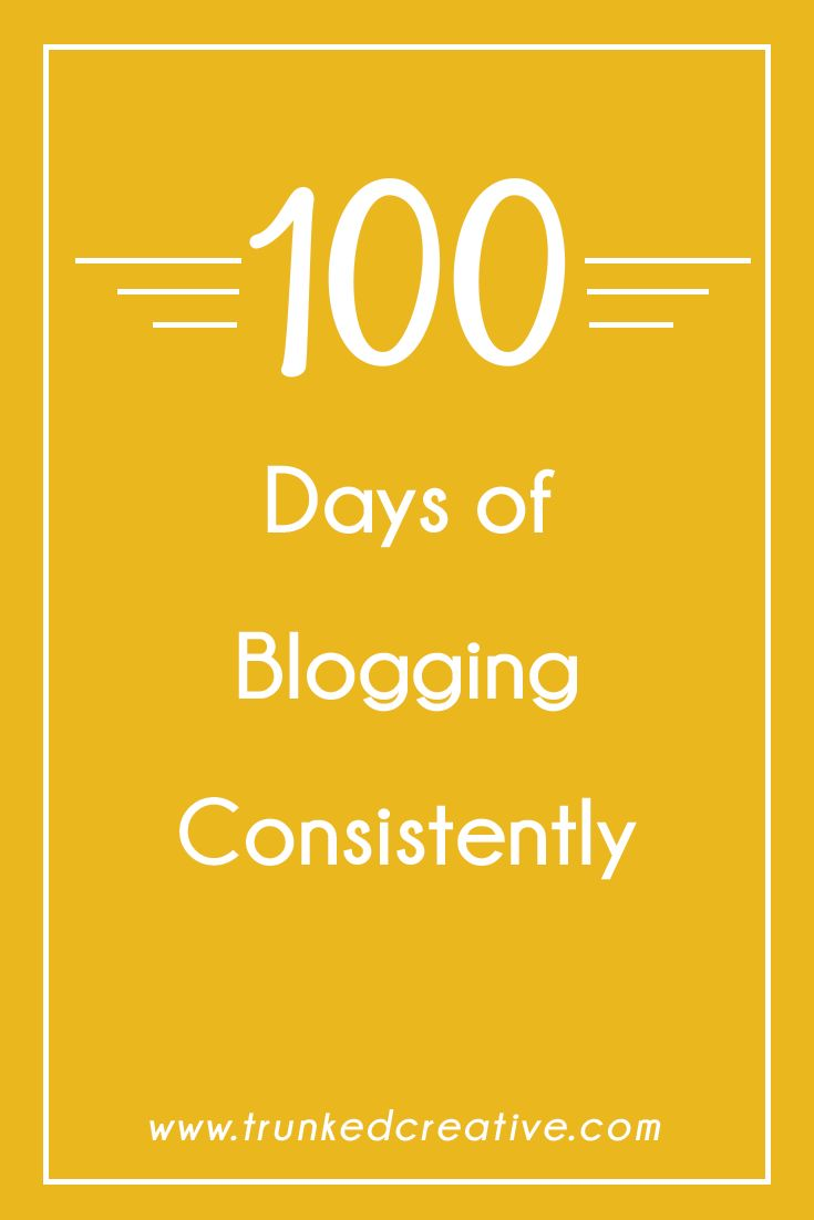 What I Learned After Blogging Every Day for 100 Days Straight via Trunked Creative