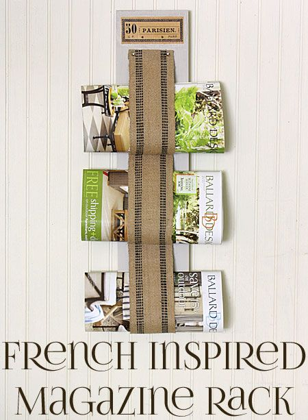 The Graphics Fairy - DIY: DIY French Inspired Magazine Rack