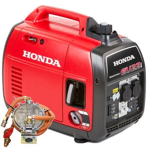 *CLICK TO ENLARGE* Honda EU22i 2200W Silent Portable 'Suitcase' Inverter Generator (Petrol/LPG, Door-Mounted)