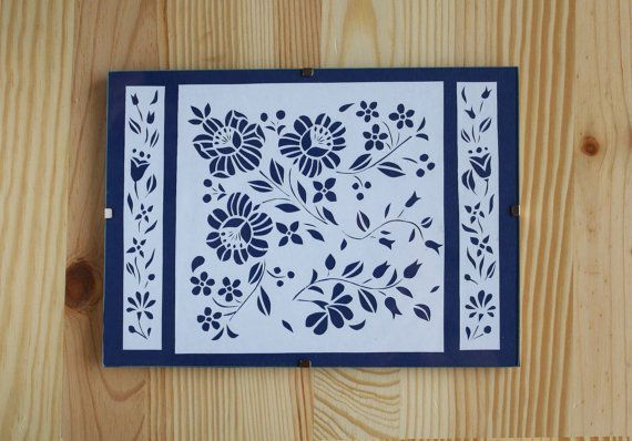 Hungarian Folk Art Flowers Papercut A5 by PaperartByAnni on Etsy