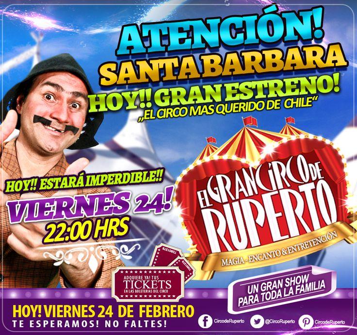 ATENCIÓN SANTA BARBARA!! HOY ES EL GRAN ESTRENO!! TE ESPERAMOS!! 22:00 HRS!