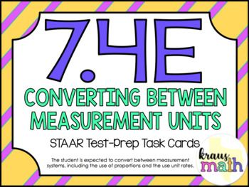 7.4E: Converting Between Measurement Units STAAR Test Prep