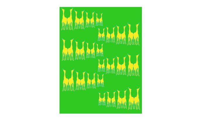 sistema de simetría, reflexión especular; patrón de crecimiento radial; tricromía por familia de color, verde, amarillo y cyan.